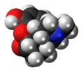 Hydromorphone molecule spacefill.png