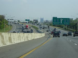Interstate 65 - Interstate 65 southbound in Nashville.