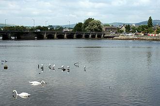 Arklow - Avoca estuary and the Nineteen Arches bridge.