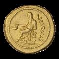 INC-3004-r Ауреус. Ок. 43—39 гг. до н. э. Монетарий Клодий Весталий (реверс).png