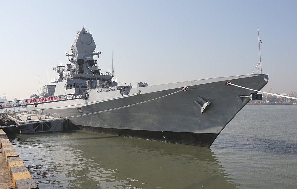 INS Chennai during its commissioning