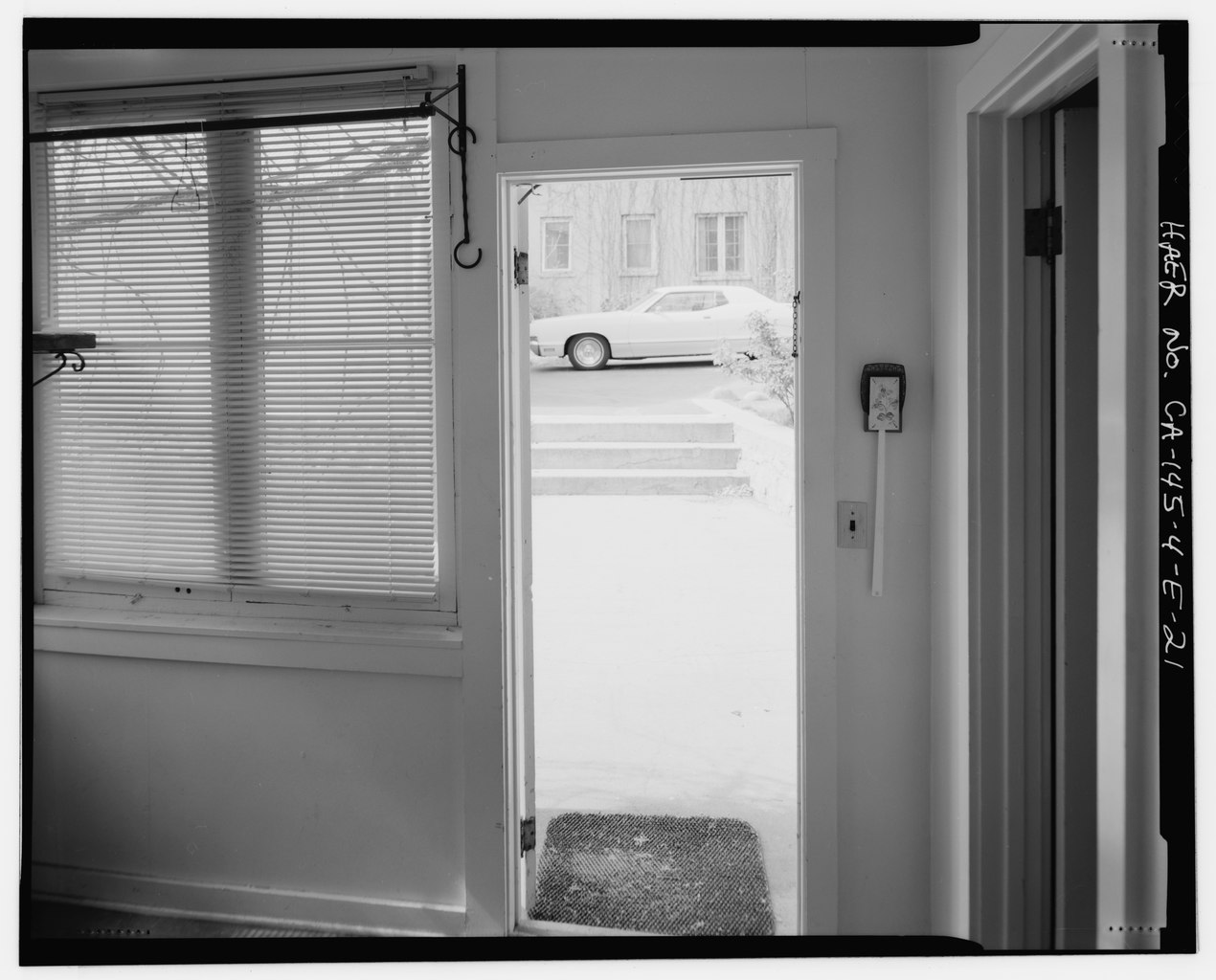 File Interior Of Utility Room Showing Open Rear Door At Photo Center Paired Narrow 1 Light Over