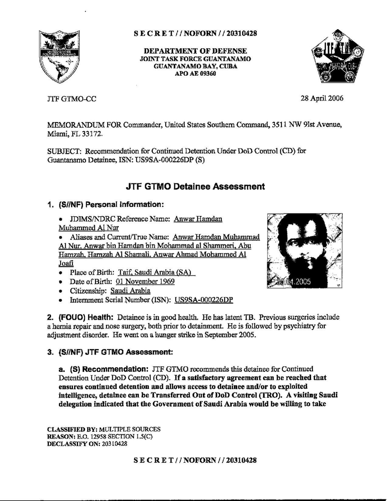 ISN 226's Guantanamo detainee assessment.pdf