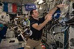 ISS-51 Thomas Pesquet at work in the Columbus module.jpg