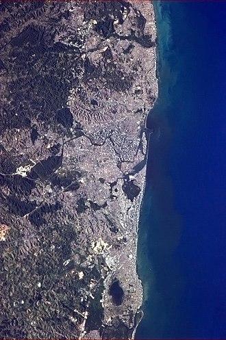 Recife metropolitan area - Image: ISS Recife, Brazil