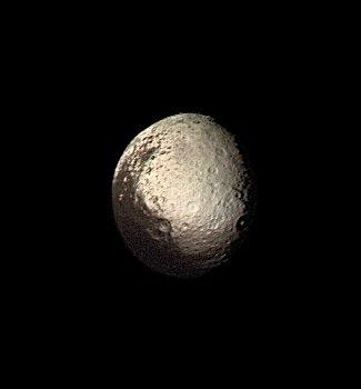 Iapetus by Voyager 2