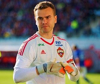 PFC CSKA Moscow - CSKA captain Igor Akinfeev