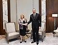 Ilham Aliyev met with Maltese President Marie-Louise Coleiro Preca, 2016 01.jpg