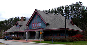 Adirondack Scenic Railroad - Saranac Lake Station
