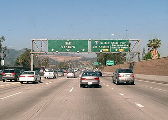 Ventura Freeway - Westbound SR 134 near I-5 in Glendale.