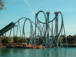 Incredible Hulk, Universal Studios Islands of Adventure, Orlando, Floryda, USA.  border