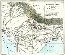 Physical-political map of northern India