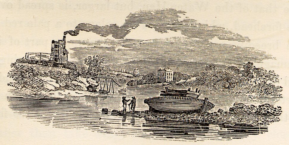 Industry on Riverside tail-piece in Bewick British Birds 1804