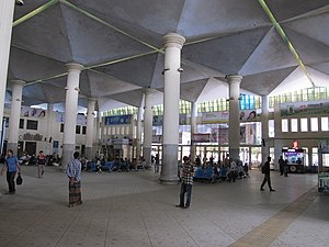 Inside the main Railway station in Chittagong 01.jpg