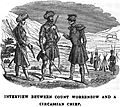 Interview between Count Worroenzow and a Circassian chief. Travels in Circassia, Krim-tartary, &c.jpg
