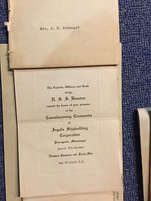 Invitation to the Commissioning Ceremony of the U.S.S. Hanover.jpg