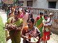 Inviting Goddess Ganga - Hindu Sacred Thread Ceremony - Simurali 2009-04-05 4050048.JPG