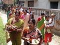Inviting Goddess Ganga - Hindu Sacred Thread Ceremony - Simurali 2009-04-05 4050048.JPG