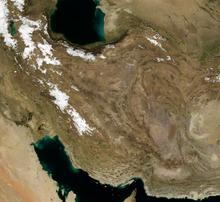Iran ın uydudan görüntüsü
