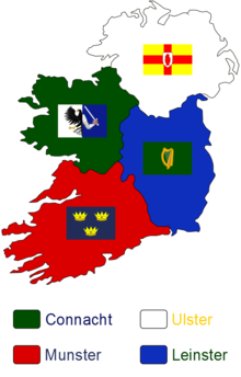 Rugby Union In Ireland Wikipedia - Ireland provinces map