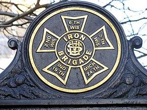 Iron Brigade - Image: Iron Brigade Unit Insignia Gettysburg Historical Marker