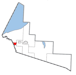 Location within Gogebic County