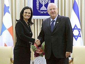 Isabel Saint Malo - Isabel Saint Malo with Reuven Rivlin the President of Israel