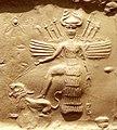 Ishtar on an Akkadian seal.jpg