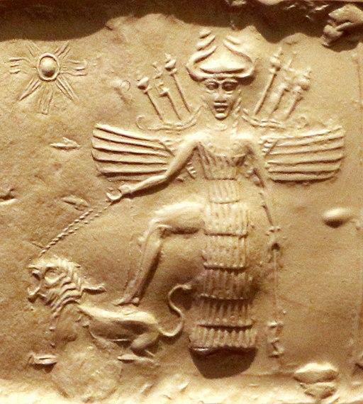 Ishtar on an Akkadian seal