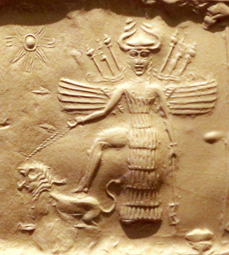 الهه اکدی ایشتر (اینانا) ، 2350-2150 پیش از میلاد