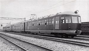 52 series - JGR Moha-52 electric multiple unit, first model, at Miyahara in 1936