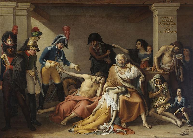 Archivo:JOSÉ APARICIO INGLADA - El Hambre en Madrid (Museo Municipal de Madrid, c. 1818).jpg
