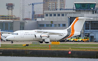 Jota Aviation - Jota Aviation British Aerospace 146 at London City Airport