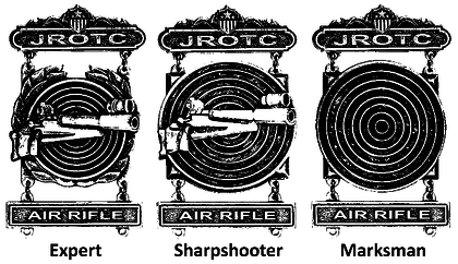 JROTC Marksmanship Qualification Badges