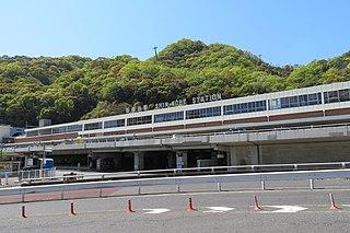 Shin-Kobe Station Railway and metro station in Kobe, Japan