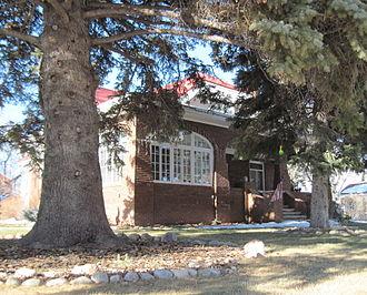 Jackson Park Town Site Addition Brick Row - 677 S. 3rd St., southeast elevation