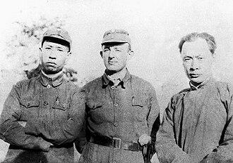 Chen Yi (marshal) - Jakob Rosenfeld (center), Liu Shaoqi (left), and Chen Yi (right)