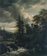 Jacob van Ruisdael - A Scandinavian Landscape with a Watermill d306063x.jpg