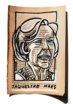 Jacqueline Mars Portrait Painting Collage By Danor Shtruzman.jpg