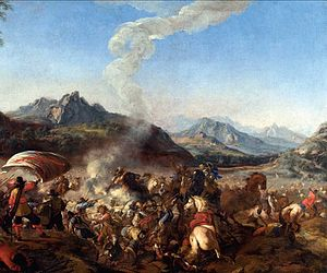 Jacques Courtois - Battle between European troops