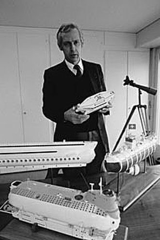 Jacques Piccard - Image: Jacques Piccard by Erling Mandelmann