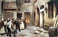 Jakub Schikaneder, Studie k obrazu Vražda v domě, pastel, kolem 1890. Fond Karáskova galerie PNP.jpg