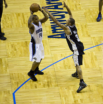 George Hill (basketball) - Hill in March 2010, defending Jameer Nelson of the Orlando Magic
