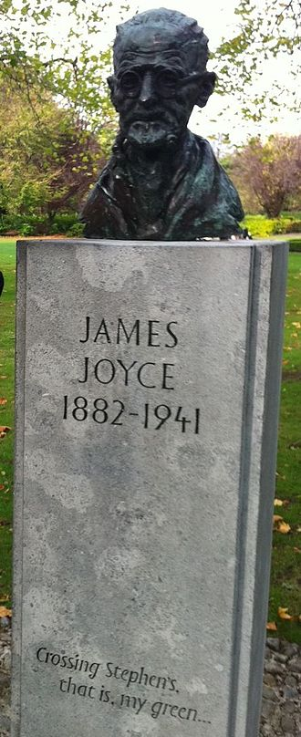 James Joyce - Bust of Joyce on St Stephen's Green, Dublin