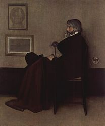 James Abbott McNeill Whistler: Arrangement in Grey and Black, No. 2: Portrait of Thomas Carlyle