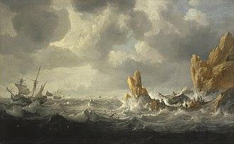 Jan Peeters I - Stormy sea