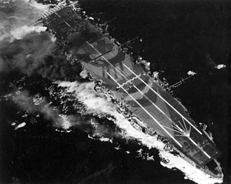Zuihō-class aircraft carrier - Zuihō under attack during the Battle of Cape Engaño on 25 October 1944