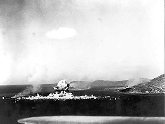 Operation Hailstone - Image: Japanese ammunition ship Aikoku Maru in Truk Harbor explodes