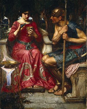 Jason - Jason and Medea - as depicted by John William Waterhouse, 1907.