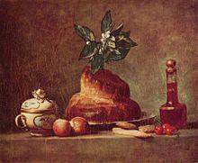 Natura morta con brioche, Jean-Baptiste-Siméon Chardin, 1763